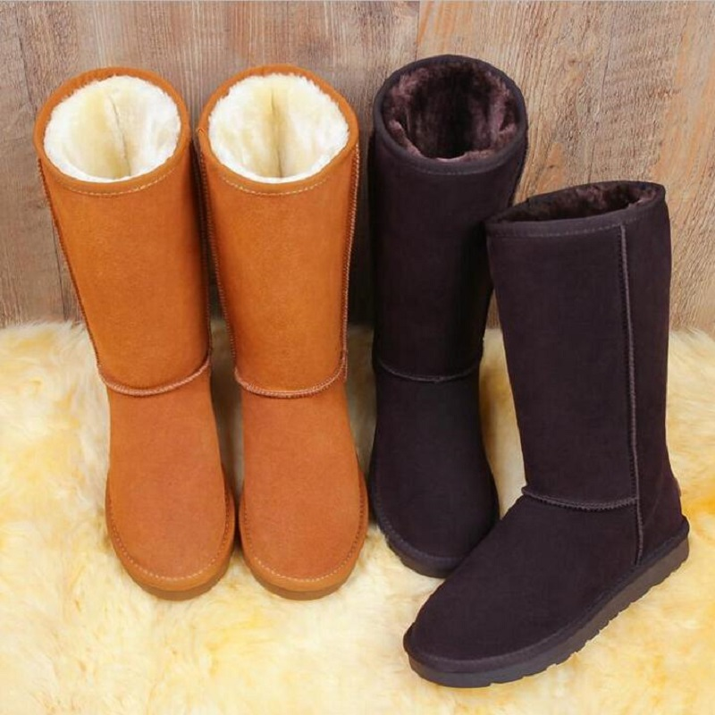 2017 Snow Female boots Tall tube Hot Winter Boots Women Ug Australia Boots Women Slip Warm Women's Boots in The Snow Size 35-44 2017 sales of the most popular hot winter boots women ug australia boots women slip warm women s boots in the snow size 34 44