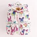 Venda quente Roupa Das Crianças Casacos & Coats 2016 Nova Outono Bebê Menina Veste Sleevele Grafite Animal Print para Grils Jaquetas