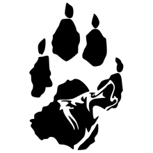 CS-1256#12*18cm Wolf paw funny car sticker vinyl decal silver/black for auto stickers styling