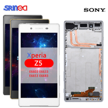 Original LCD For Sony Xperia Z5 E6603 E6633 E6653 E6683 LCD display Touch Screen Digitizer Assembly LCD with Frame + Adhesive