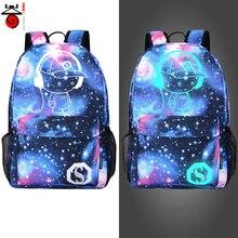 Senkey style Men's Backpack Anime Starry sky Luminous Printing Teenagers Casual Mochila Men Women's Student Cartoon School Bags