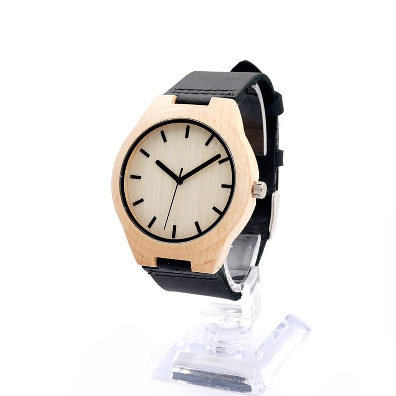 5beed18e06d Bobo bird relógio de marca de luxo homens pulseira de couro de madeira  feitos à mão relógios de quartzo de japão movimento relógio de pulso relogio  feminino ...