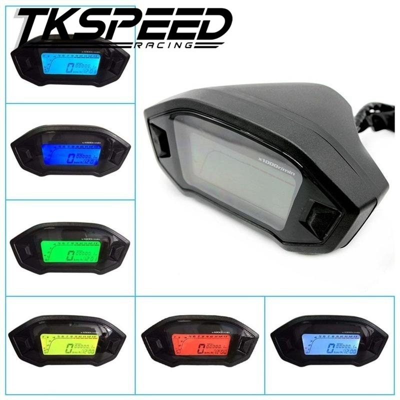 Free shipping Universal Motorcycle LCD Digital Speedometer Odometer Backlight Motorcycle for 2,4 Cylinders 1300r/min free shipping 10pcs lx6503aid lx6503 lcd backlight chip
