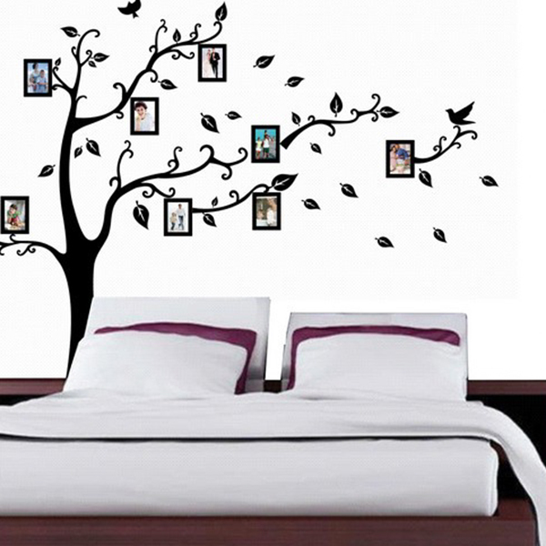 Aliexpress.com : Buy Home Black Tree Design Wall Stickers 50*70 CM Art  Mural Sticker Wall Sticker For Home Office Bedroom Wall Stickers Decor From  Reliable ... Part 51
