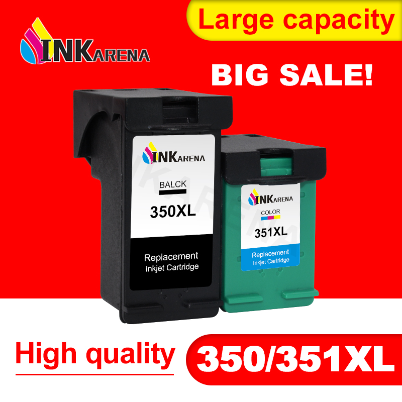 INKARENA 350XL 351XL Ink <font><b>cartridges</b></font> Replacement for <font><b>HP</b></font> 350 <font><b>351</b></font> D4260 D4263 D4360 J5730 5780 5785 C4380 4480 Printer <font><b>Cartridge</b></font> image