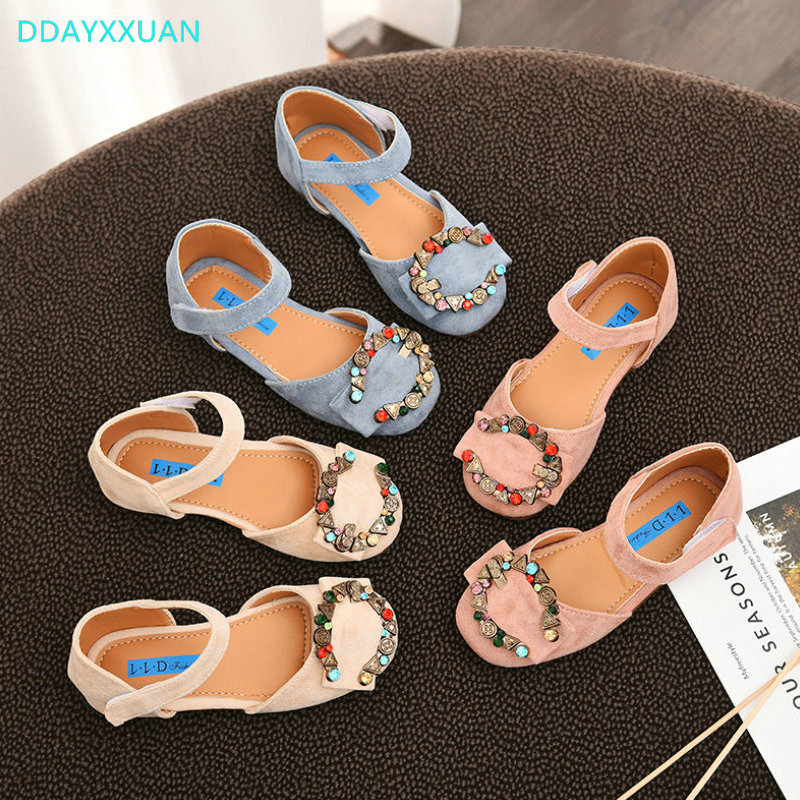 Kids Sandals Girls Princess Sandal 2018 New Brand Summer Fashion Rhinestone Girls Dancing Sandals for Children Shoes EU 26-36