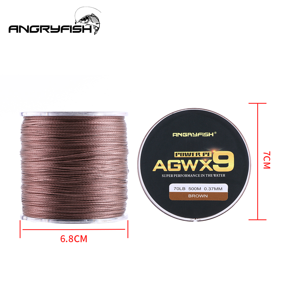 Image 4 - ANGRYFISH 9 Strands Weaves Braided 500M Fishing Line Super Strong PE Line 15LB 100LB-in Fishing Lines from Sports & Entertainment