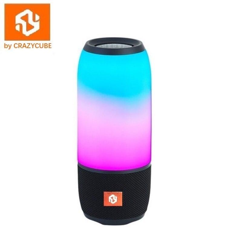Enceinte Passive en caoutchouc pour haut-parleur LED bluetooth Portable sans fil crazy ycube Pulse 3 avec radio fm jbl 10W