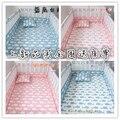 5 шт. INS баллена Кроватки Бамперы Хлопок Детская Кровать Воздухопроницаемой Сеткой Бампер Лайнер Наборы Детской Кроватки Кровать Вокруг Протектор, розовый синий цвет