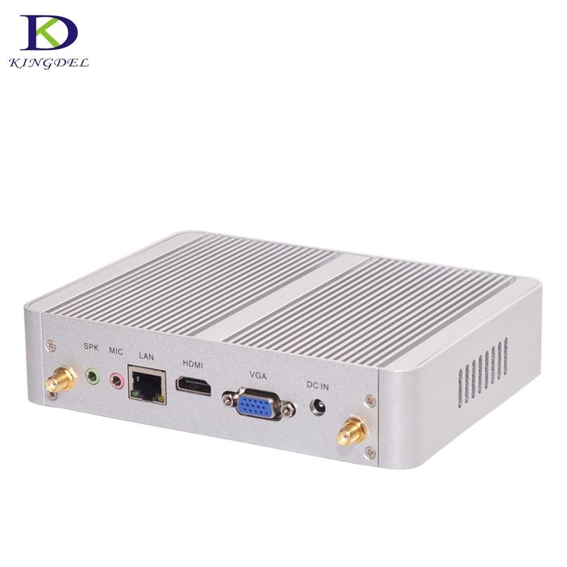 Celeron N3150 Quad Core Mini PC with Windows 10 Graphics HDMI VGA Fanless Pocket PC micro Computer Core i3 4005U Dual Core thin client mini itx computer intel celeron n3150 14nm quad core dual hdmi vga 1 rs232 4 usb3 0 300m wifi window 10 mini pc