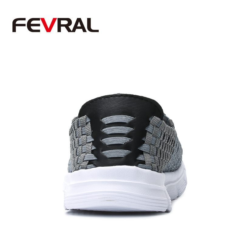 Image 3 - FEVRAL Brand Summer Breathable Men Casual Shoes Slip on Loafers High Quality Handmade Woven Shoes Men Soft and Lightweight FlatsMens Casual Shoes   -
