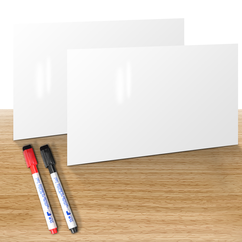 YIBAI 2Pcs/Set Magnetic Whiteboard,Fridge Writing Board Message Board With 2 Pcs Marker For Home and Office Drop shopping