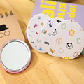 Manufacturers wholesale MINI tourism Portable Makeup mirror tools Make up Cartoon Round Mirror Tool any time protect your beauty