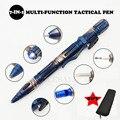 Многофункциональная портативная тактическая ручка для выживания на открытом воздухе, фонарик для самозащиты, аварийный стеклянный выключ...