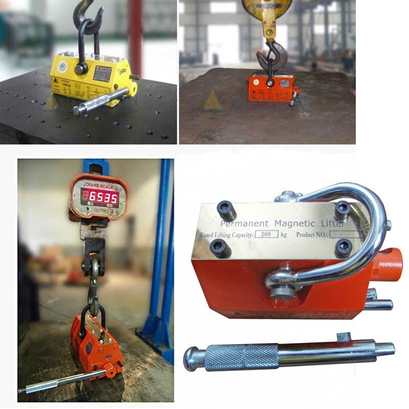 200 kg Magnétique Permanent Lifter PML Grue Magnétique Métal En Acier Plaque De Levage Outil Heavy Duty Palan De Levage New