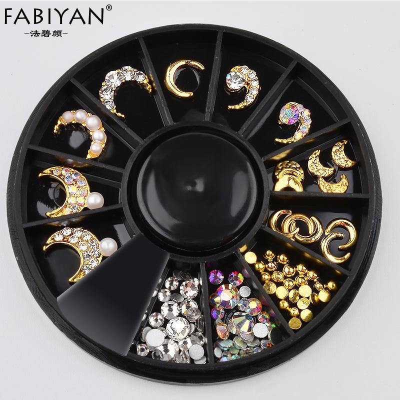 Aliexpress.com : Buy Wheel Metal Moon Shape Glitter Pearl