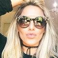 Mujeres de la Marca de Lujo de Diseño de Cristal Diamantes Reflejan Espejo gafas de Sol Retro Gafas de Sol de Las Mujeres Femeninas de Tonos Rosados Sunglases CatEye