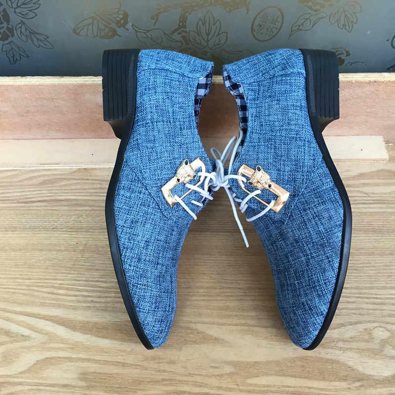 Mazefeng 2018 ใหม่แฟชั่นฤดูใบไม้ผลิฤดูใบไม้ร่วงผู้ชายสบายๆรองเท้าผู้ชายรองเท้าผ้าใบLace-Up Pointed Toeธุรกิจชายอังกฤษรองเท้าสไตล์
