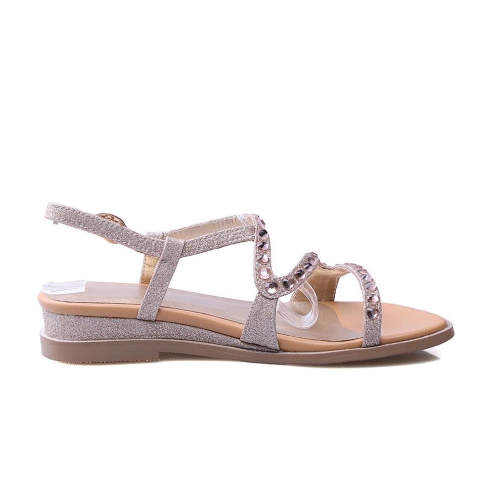 43 2019 D'été Chaussures Or Mode Femme Boucle argent Confortable 33 Doratasia Femmes Taille Sangle Grande Appartements Loisirs dXgOCxw4q