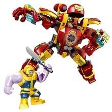 371PCS Iron Man Military Sermoido Marvel The Avengers Toys For Children Super Heroes Large Robot Warfare Bricks