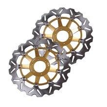 Arashi disco del freno delantero rotores para honda cbr1100xx 1999-2004 & x once x-11 1100 2000-2003 y cb1284 2001-2002 de oro