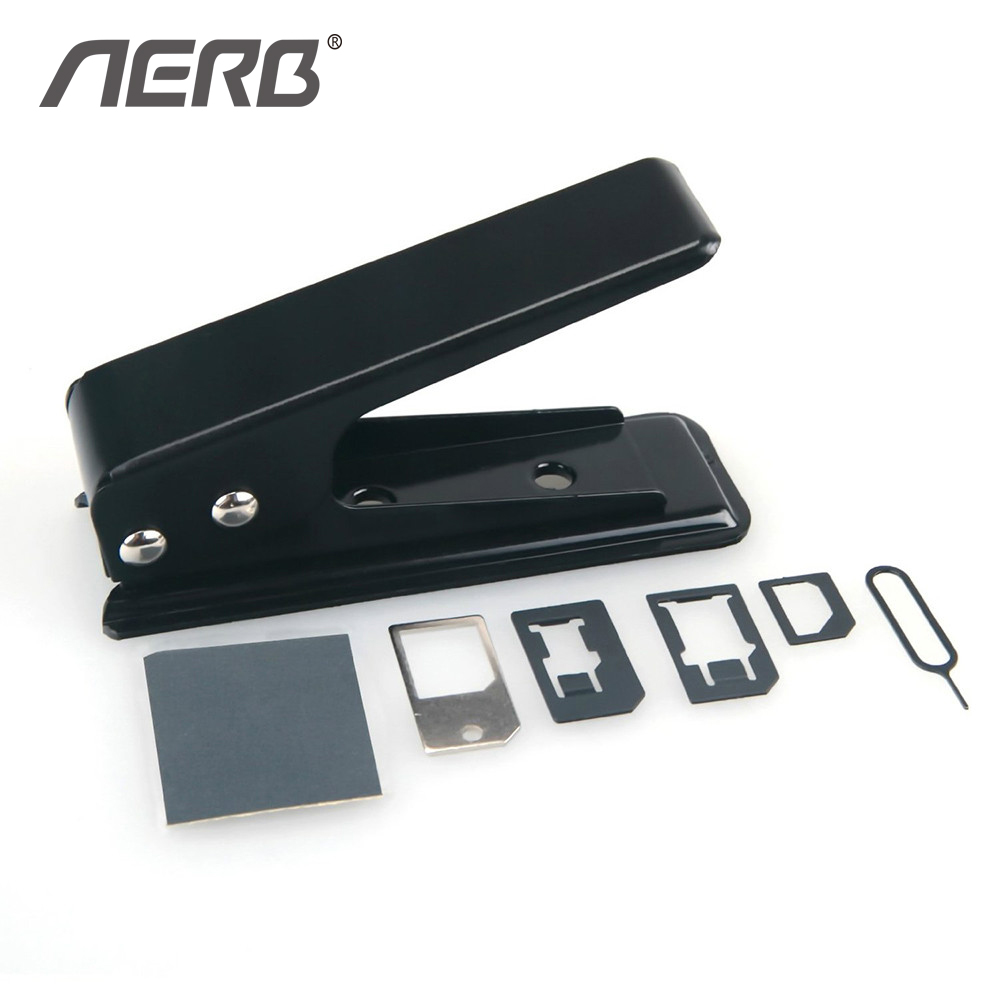 Aerb Sim Card Adapter Luxury Sim Card Cutter Nano-Micro Nano-Standard Micro-Standard Nano Sim Adapter for Smartphone Devices