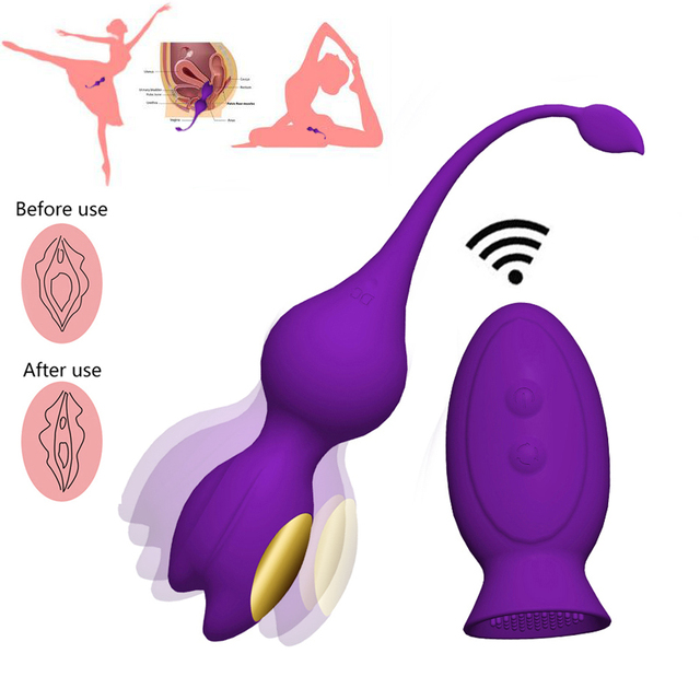 Wireless Vibrating Vagina Ball Vaginal Tighten Exercise Kegel Ball Clitoris Stimulator Geisha Ball Ben Wa Balls Adult Sex Toys