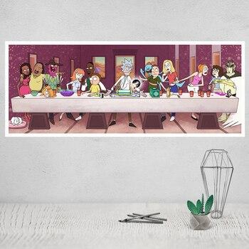 Rick y Morty Rick Sanchez de dibujos animados animación arte Cuadros decoración seda cartel impresiones casa decoración pintura