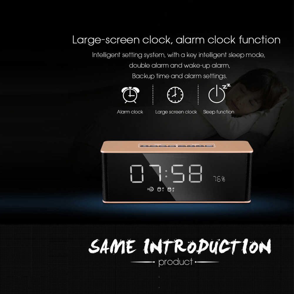 Dbigness Колонка Altavoz с функцией Bluetooth динамик беспроводной стерео Caixa де сом с дисплеем времени будильник динамик переносной динамик