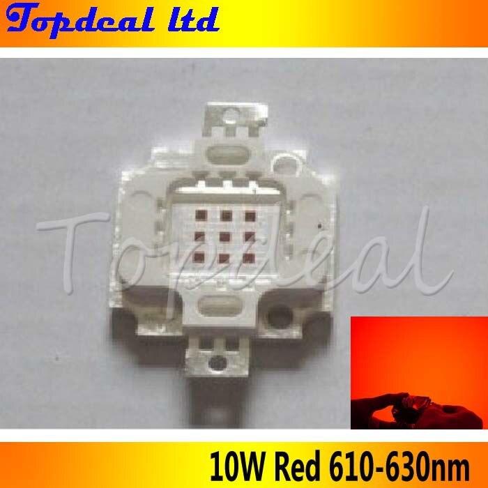 10 Вт высокой мощности Мощность светодиодный источник светодиодного излучения 400Lm красного цвета 610-630nm DC6-8V 900mA светодиодный прожектор источник