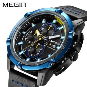 Image 1 - MEGIR Creative Sport Watch Men Relogio Masculino Fashion Brand Luxury Quartz Chronograph Army Military Wrist Watches Clock Men