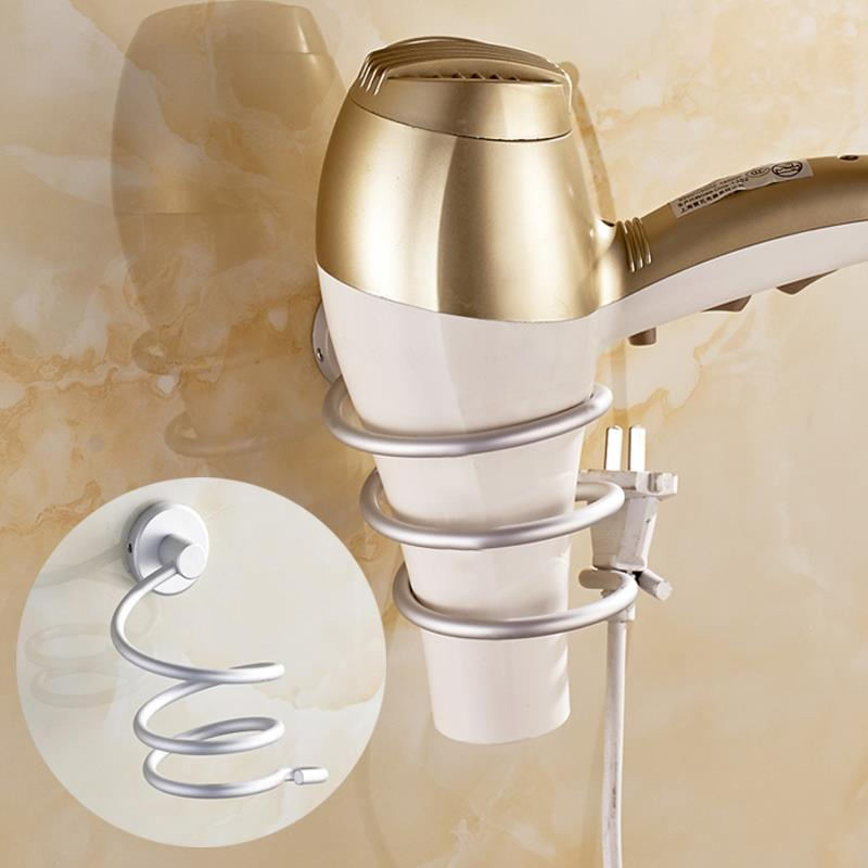 1pcs Home Wall Hair Dryer Holder Rack Hair Storage Organizer Storage  Hairdryer Holder,free Shipping