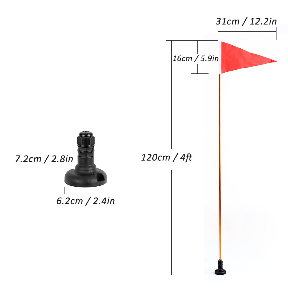 Universal Kayak Safety Flag Mount Kit DIY Kayak Accessories Marine Canoe Kayak Boat Fishing Canoe Yacht Dinghy Boat Flag Mount in Rowing Boats from Sports Entertainment