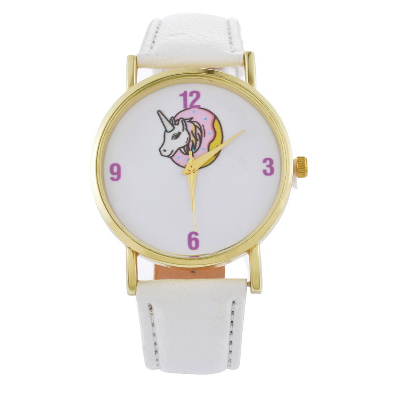 FUNIQUE Unicorn Pattern Fashion Cute Watch For Women Girls Numerals Clock Leather Casual Quartz Wrist Watch Relogio Feminino rigardu fashion female wrist watch lovers gift leather band alloy case wristwatch women lady quartz watch relogio feminino 25