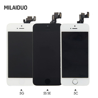 Full Replacement LCD Touch Screen Digitizer For IPhone 5 5s Se 5c Home Button Front Camera