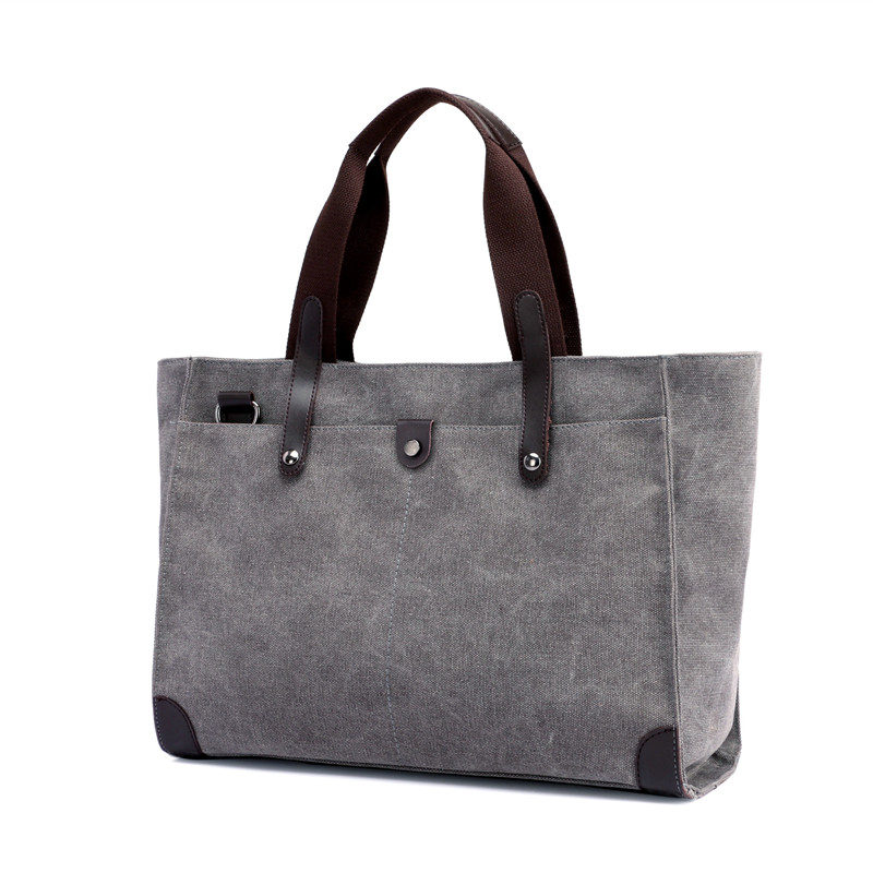 Male and female universal package new capacity single shoulder bag simple leisure tote bag vintage canvas handbag.