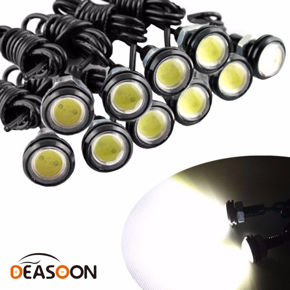 Универсальный 10 шт. высокое Мощность белый 9 Вт Светодиодный крючке бампер туман лампы мотоцикл свет дневного DRL автомобиля резервное копир…