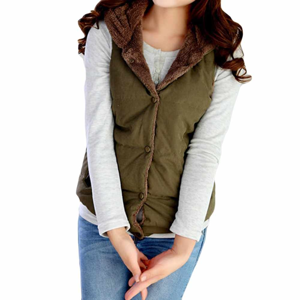 ae9f7774742 ... Srogem Fashion Winter Coat Bodywarmer Women Vest Hoodie Polly Pocket  Sherpa Colete Feminino Kamizelka Damska Jott ...