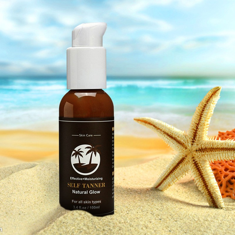 Organic and Natural Ingredients Sunless Tanning Lotion and Best Bronzer Golden Buildable Light, Medium or Dark Gradual Tan S2G3