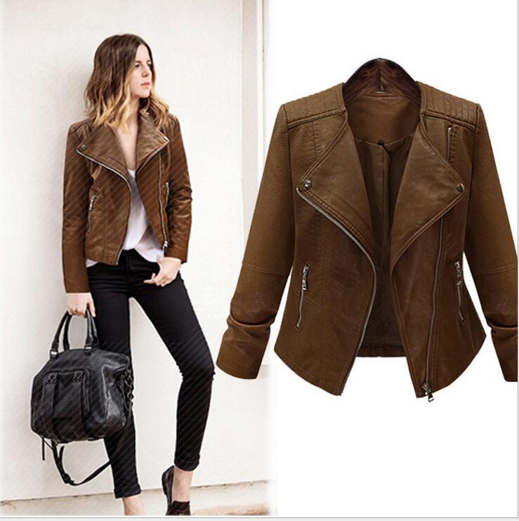 Nuevo abrigo de invierno para mujer, chaqueta de cuero de