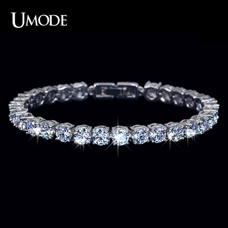 UMODE Charm Cubic Zirconia Tennis Bracelet for Woman Lady