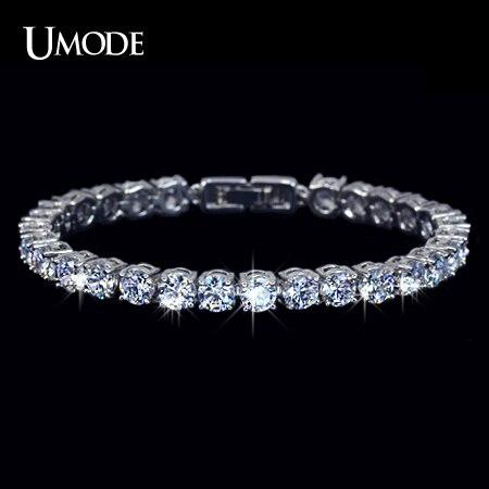 UMODE Charm AAA+ Round 0.5 carat Cubic Zirconia Tennis Bracelet for Woman Pulseira Classic Wedding Jewelry Lady Bracelet UB0021