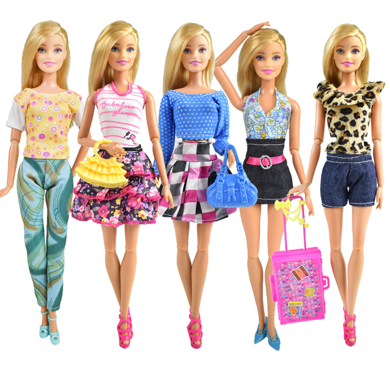 Newest High Quality Doll Clothes Fashion Party Suit Daily Dress Beautiful Skirt for Barbie Doll Accessories Girl Best Gift Toy скуби ду лего