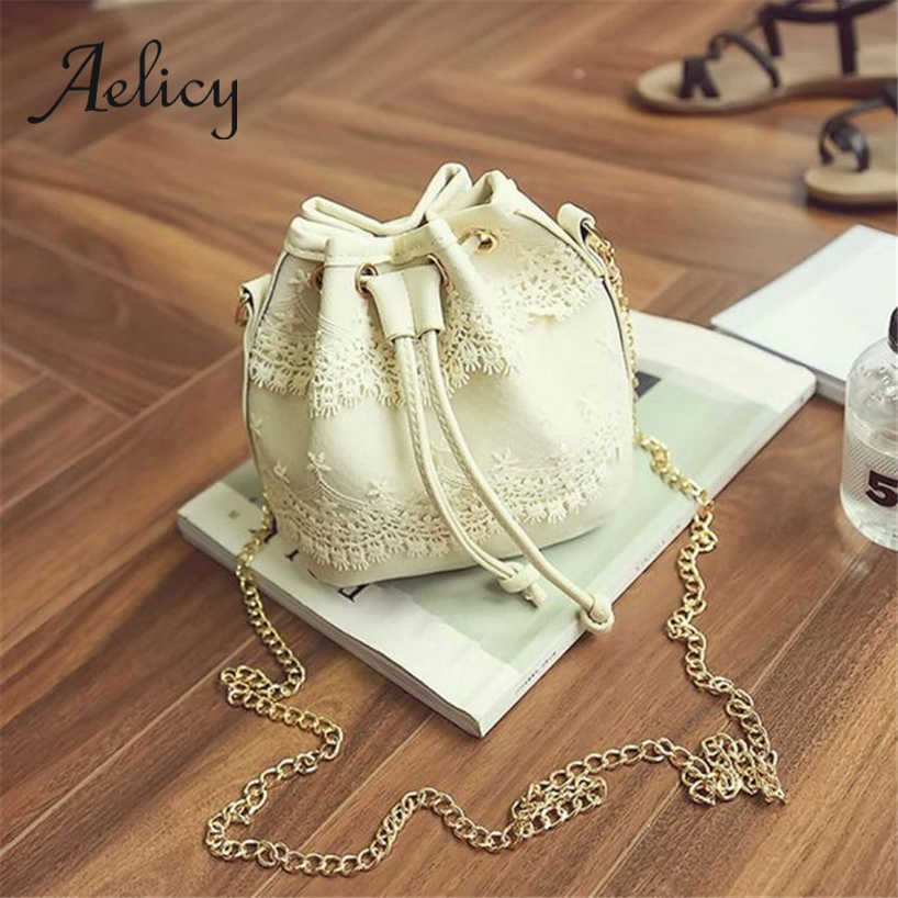 Aelicy Tote Handbag Dumplings-Bag Drawsting Large-Capacity Retro Satchel Fashion Women
