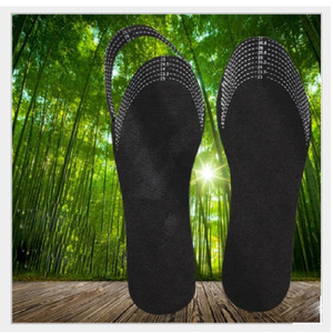 Image 5 - 5Pairs/Lot Unisex Bamboo Charcoal Shoe Insoles Odor Removal Deodorant Cushion Foot Inserts Shoe Pads Healthy Insoles Women 1Pair
