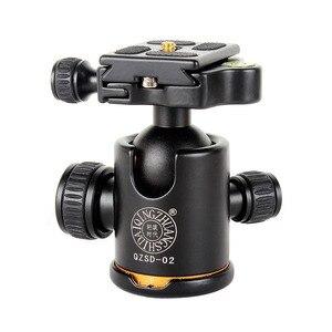 Image 1 - ใหม่ QZSD 02 อลูมิเนียมหัวขาตั้งกล้องขาตั้งกล้อง + Quick Release Plate สำหรับกล้องขาตั้งกล้อง, โหลดสูงสุด 15 กก.