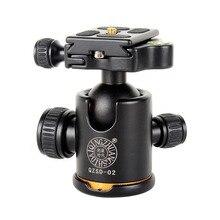 Yeni QZSD 02 Alüminyum tripod döngüsü Kafa Ballhead + Quick Release Plaka için Pro kamera tripodu, Maksimum yük 15 kg