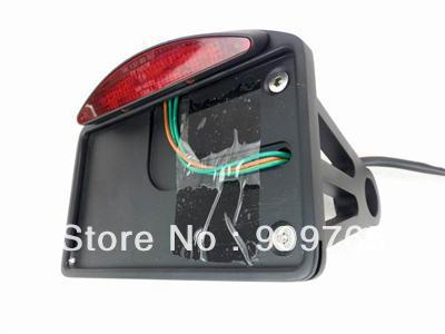 1 Pcs Black Led Side Mount License Plate Tail Light For