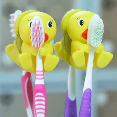 Cute duck toothbrush holder high quality cheap price 6.5*4.5*3cm free shipping image