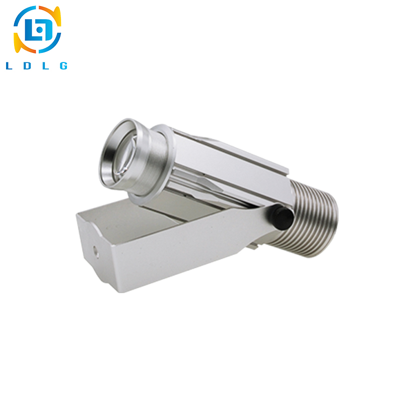 Silver Outdoor 20W Custom Design Led Gobo Projectors for Advertising Company Logo 20W Waterproof Logo Projection Effect Lights company logo advertising silver 20w led rotating image gobo projector 110v 220v 1700lm indoor outdoor led custom gobo projector